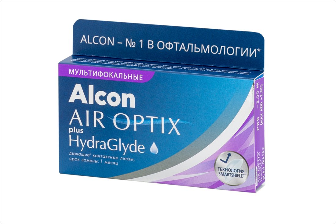 Контактные линзы Air Optix Plus HydraGlyde Multifocal (3) - 1